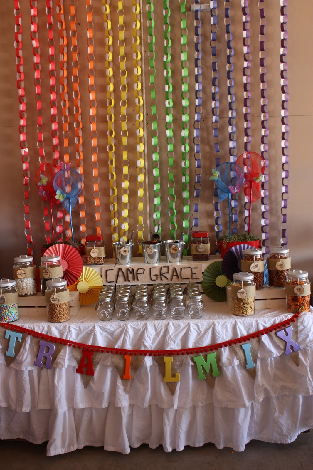 Buckets of grace real party camp arts and crafts for Arts and crafts party