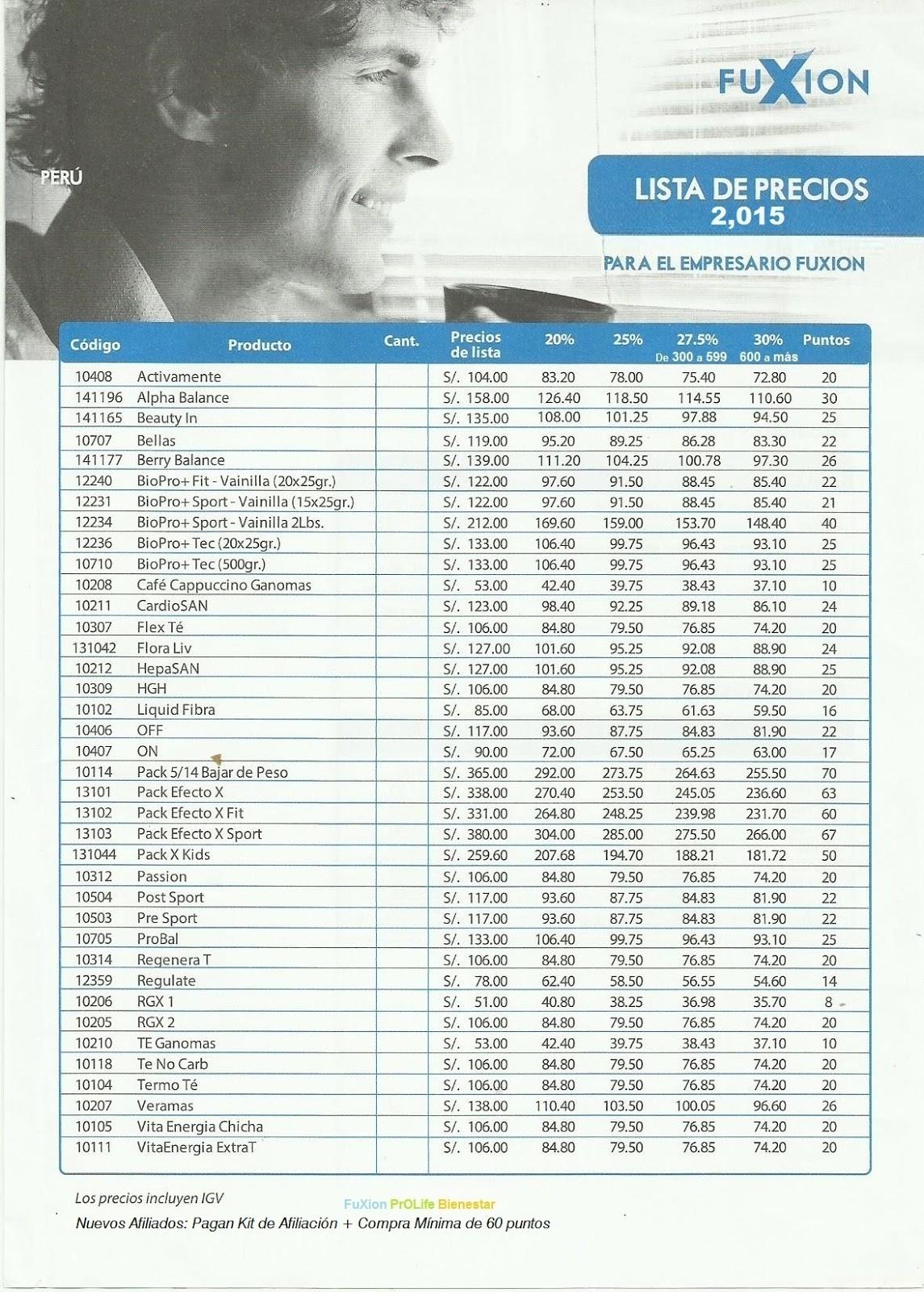 Lista De Precios Peru Hd 1080p 4k Foto