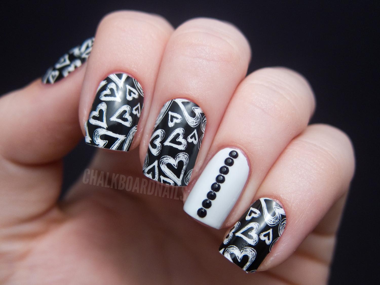 Jamberry Nail Shields - Chalkboard Hearts | Chalkboard Nails | Nail ...