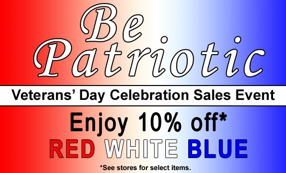 Red-White-Blue Sale at Pepperell Braiding Company Stores