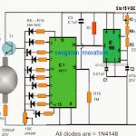 Rotating Beacon LED Simulator Circuit