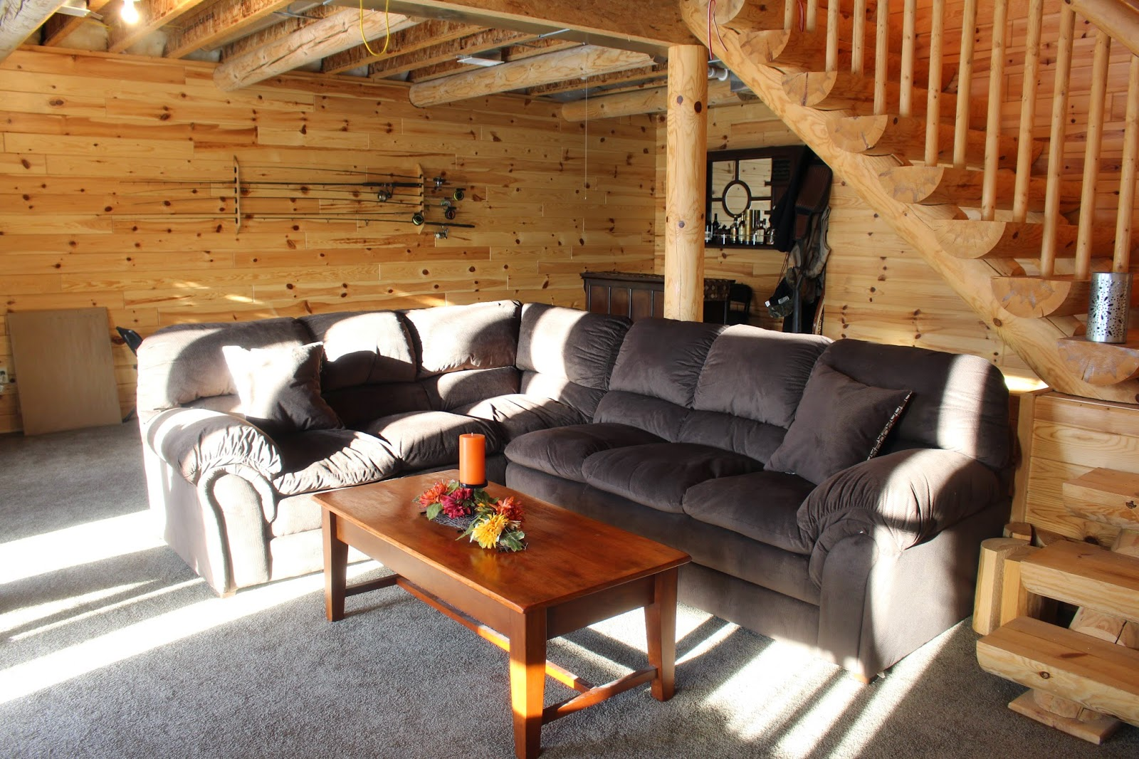 Building a log cabin for Log cabin basement ideas