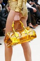 Голяма прозрачна чанта в жълто, дизайн Burberry Prorsum