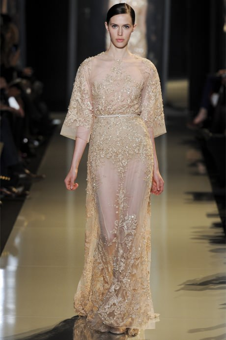 Fashion Week in Paris. Collection Elie Saab Spring 2015