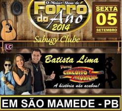 Batista Lima e Circuito Musical no Sabugy Clube em São Mamede