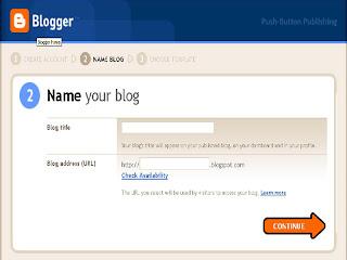 cara memberi nama blog