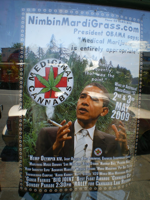 Drugs, weed, Obama, Nimbin, Australia