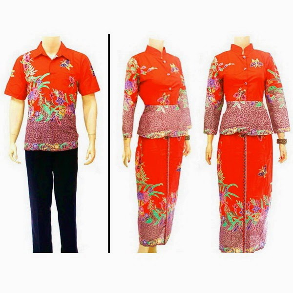 Baju Batik Pasangan Muslim motif encim