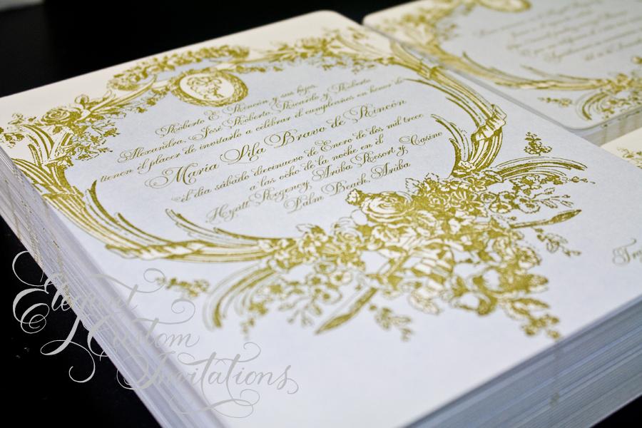 Silk box invitations | Isabella Invitations