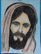 JESUSDESENHO EM PAPEL CANSON A4FEITO EM GIZ DE CERA