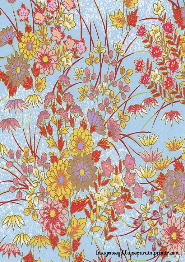 papel con flores vintage