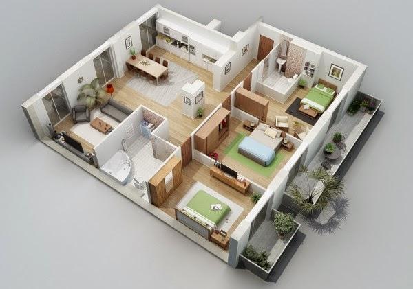 Rumah minimalis 3 kamar 4