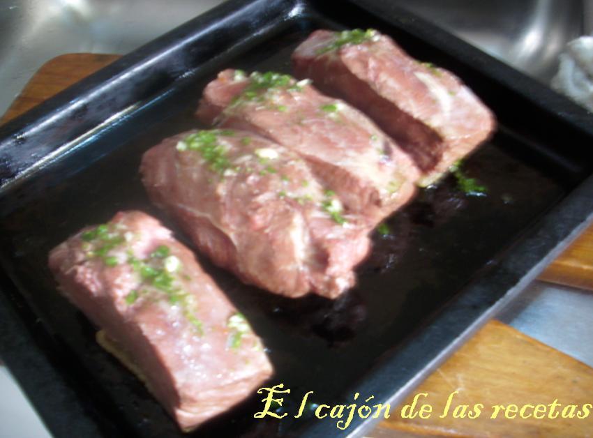 El caj n de las recetas entrecot al horno con pur de papas for Cocinar un entrecot