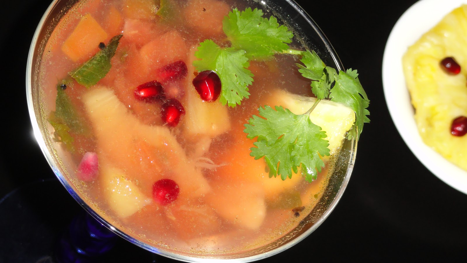 A Peek into My Kitchen: Pomegranate ~ Pineapple Rasam ...