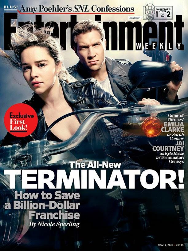 Emilia Clarke en Terminator: Genisys Portada EW