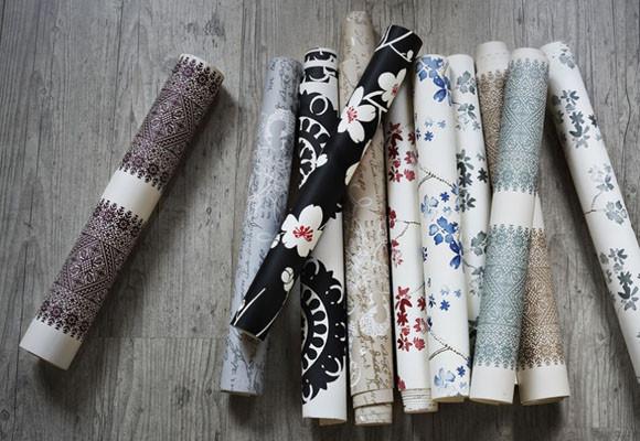 Cosas de palmichula forrar muebles con papel pintado - Decorar muebles con tela ...