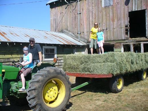 tractor hay barn