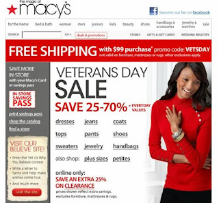 Macy's 2013 Veterans Day Sale: Save Extra 20% Off With Savings Pass