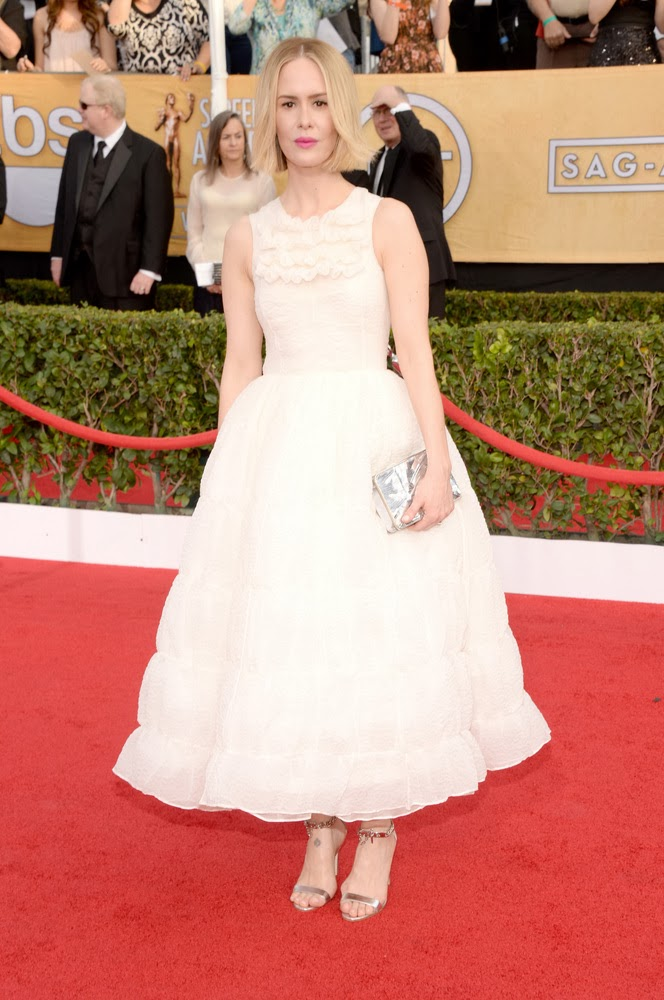 Sarah Paulson in Rochas at the SAG awards