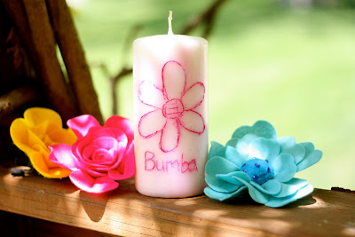 Mothers Day Gift Idea #2: Personalized Candle