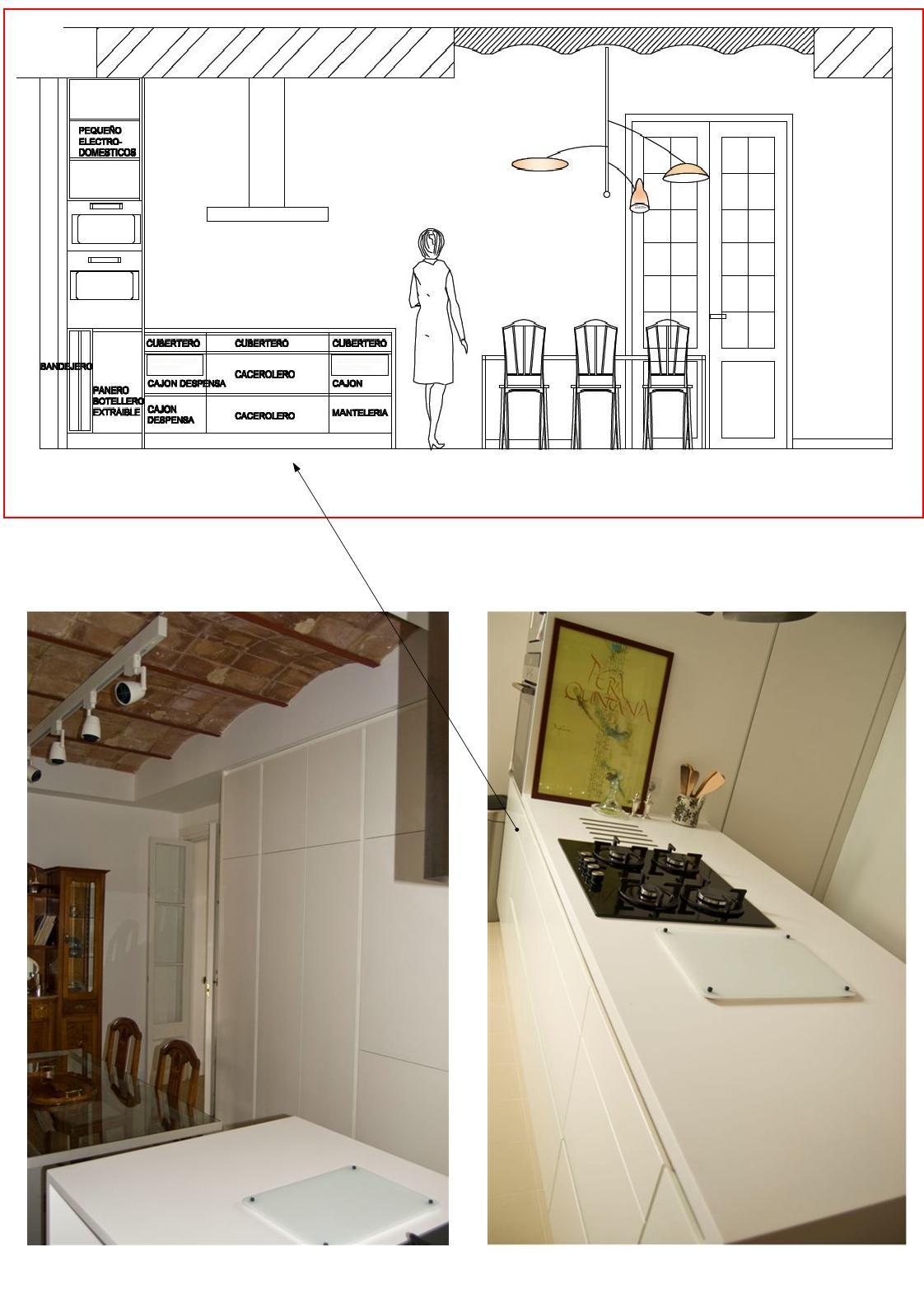 Carpinteria muebles a medida mobiliario de cocina en dm for Medidas isla cocina