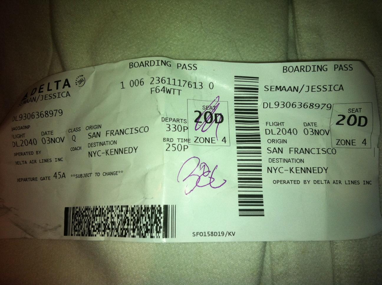 Blank Delta Boarding Pass Delta plane tickets - viewingDelta Boarding Pass Template