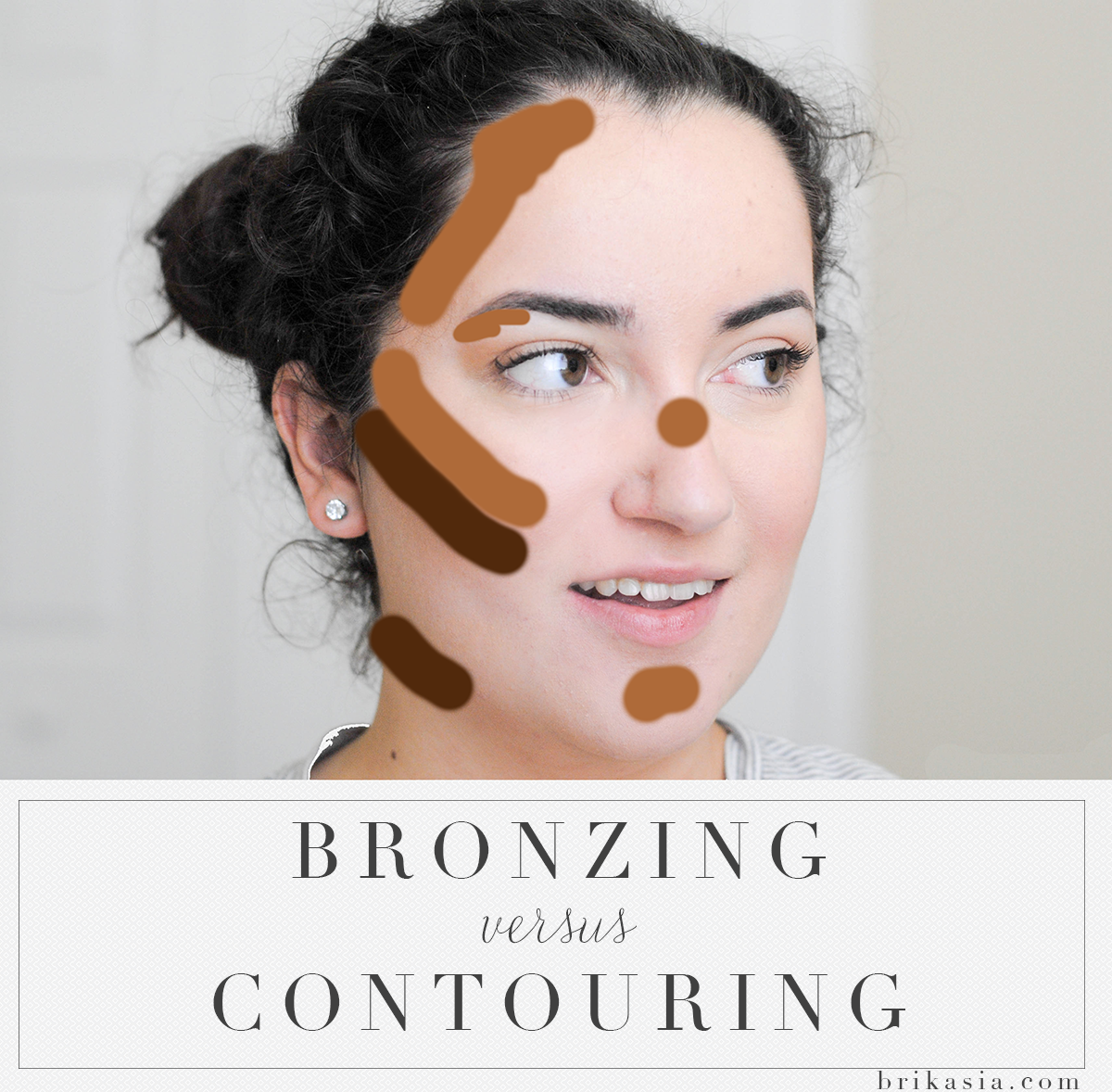 how to use bronzer, how to contour face, difference between bronzing and contouring