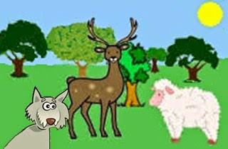 Il cervo, la pecora e il lupo (Fedro)