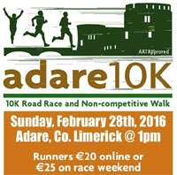 Popular 10k race in Limerick...Sun 28th Feb 2016