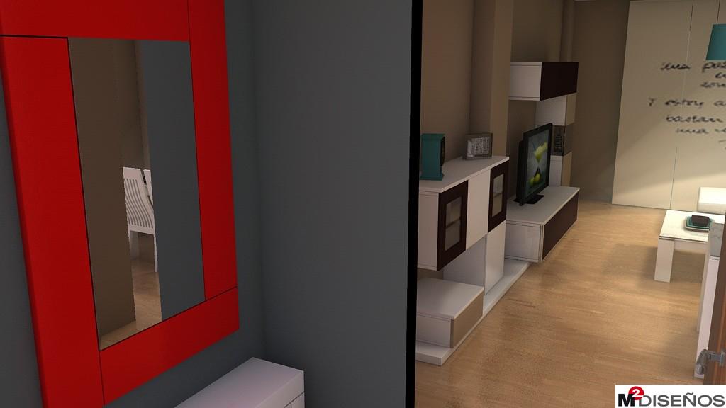 Contemporáneo Espejo De Pared De Marco Rojo Galería - Ideas ...