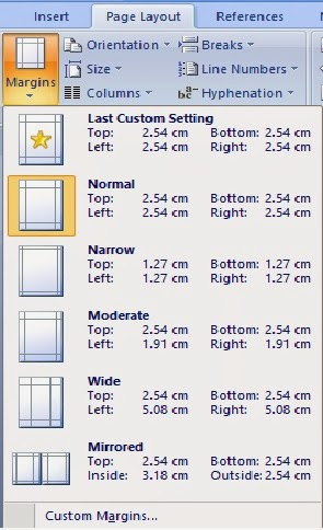 gambar ikon margin