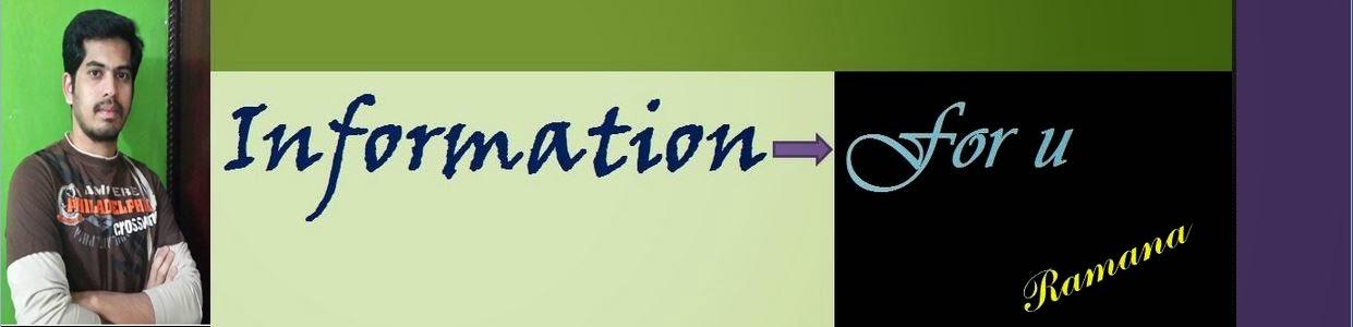 Information- for u