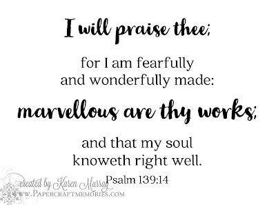 Papercraft Memories: Psalm 139:14 WORDart by Karen
