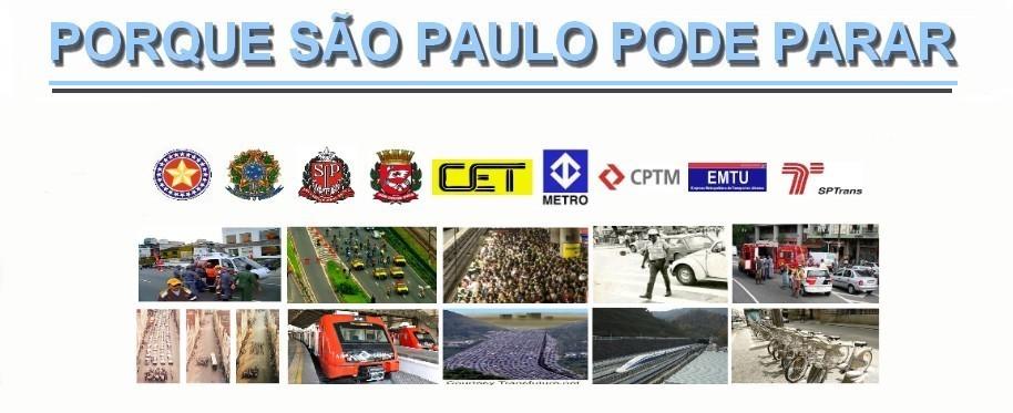 TRÂNSITO - PORQUE SÃO PAULO PODE PARAR