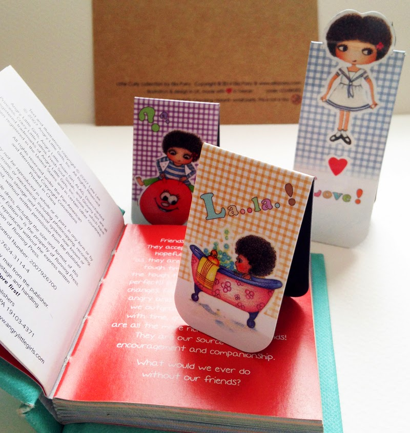 Little Curly magnetic bookmark set B