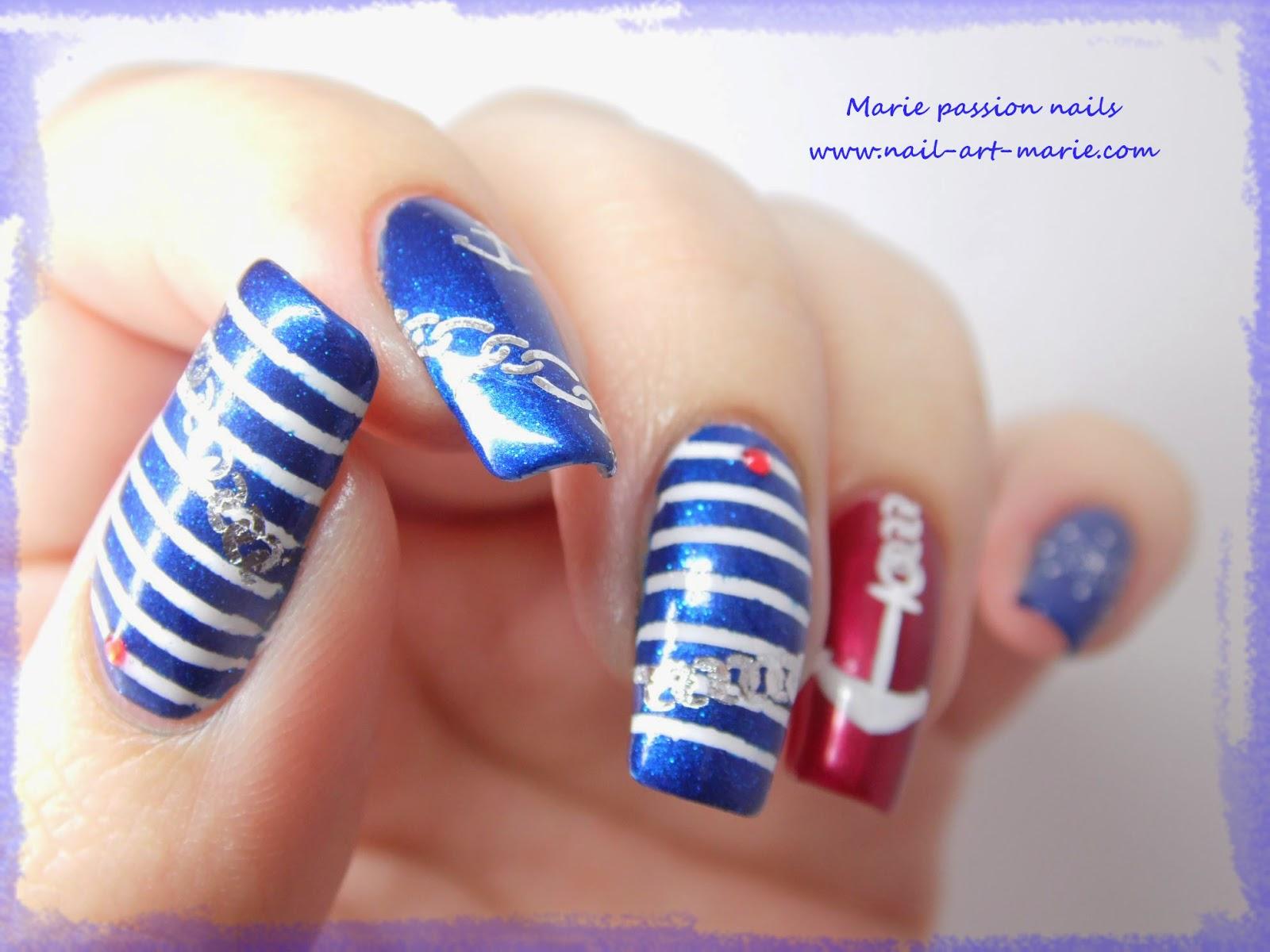 Nail art marin6