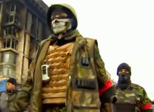 Ukraine's Neo-Nazis. (Screen capture from YouTube video)