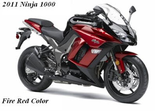 2011 Kawasaki Ninja 1000 red Color