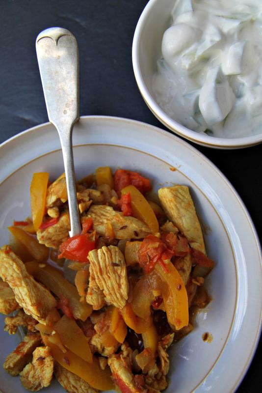 Kadahi chicken - stir fry po indyjsku