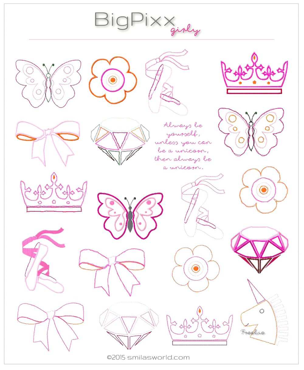 Smila´s World | Blog: Shop Update: Stickdatei: BigPixx Girly Girly Blog Shop