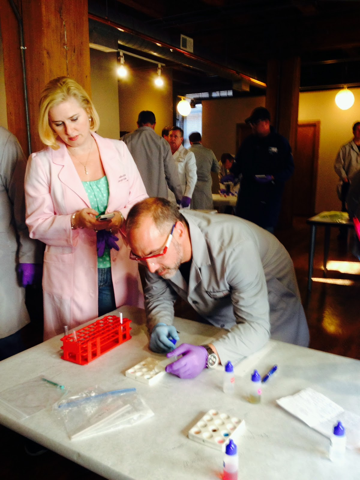 Deandra Grant working on her Forensic Drug Analysis course