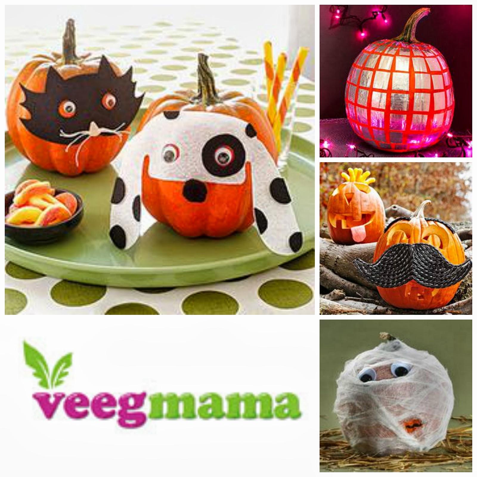 Veegmama Easy Pumpkin Decorating Ideas