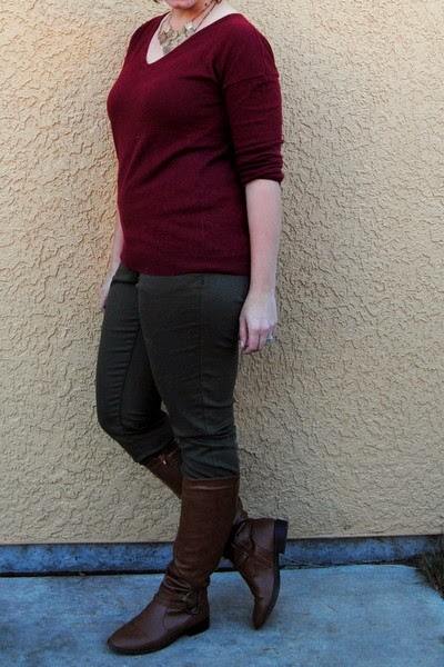 Stay-At-Home Mom Style: Maroon and Olive