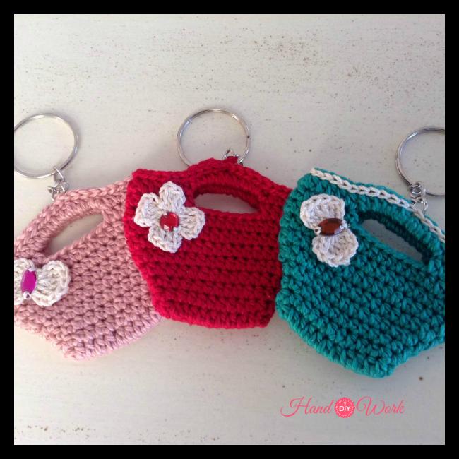 Llaveros tejidos a crochet mini carteras - Como hacer bolsos tejidos ...