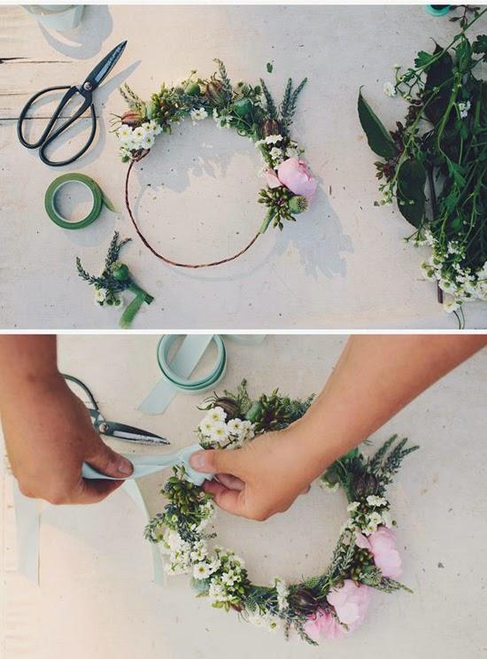 Oh mywedding 10 coronas de flores diy - Coronas de flore ...