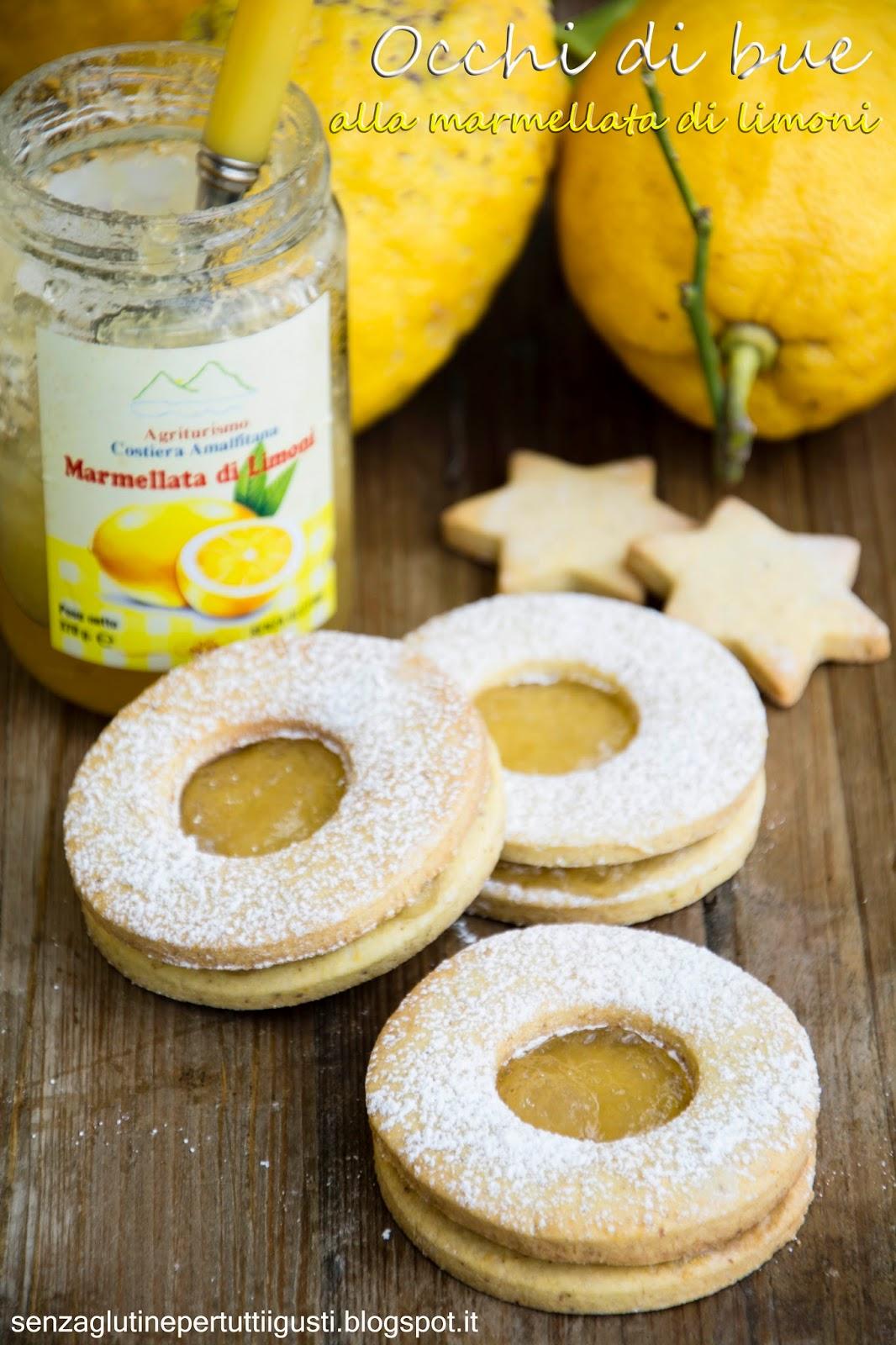 occhi di bue ai pistacchi con marmellata di limoni di amalfi