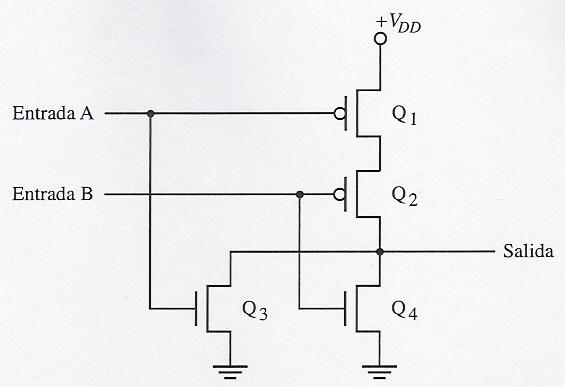 Circuito Nor : Circuitos de electronica cmos