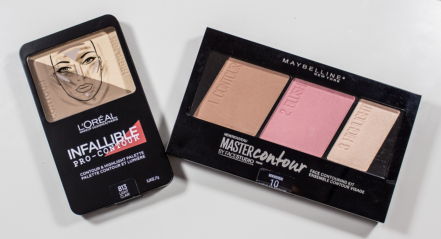 Warpaint And Unicorns Dare To Compare Loreal Infallible Pro Meyne V Face Contour Palette In Light Vs Maybelline Facestudio Master Medium