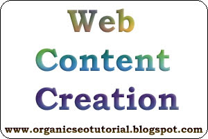 organic seo tutorial about web content creation