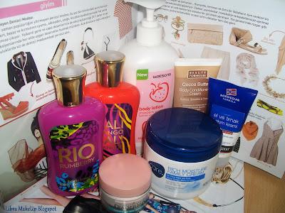 neutrogena, rosense, beauty formulas, avon, diadermine, BBW, vücut losyonları, kremler